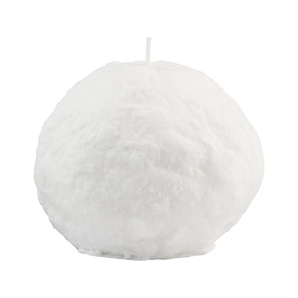 Large Snowball Candle