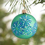 Snowburst Green Ball Ornament