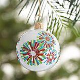 Snowburst White Ball Ornament