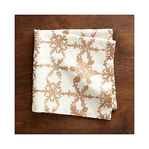 Snowfall Gold Linen Napkin
