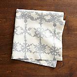 Snowfall Silver Linen Napkin