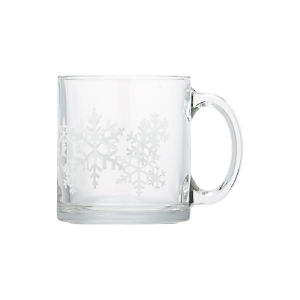 Snowflake Glass Mug