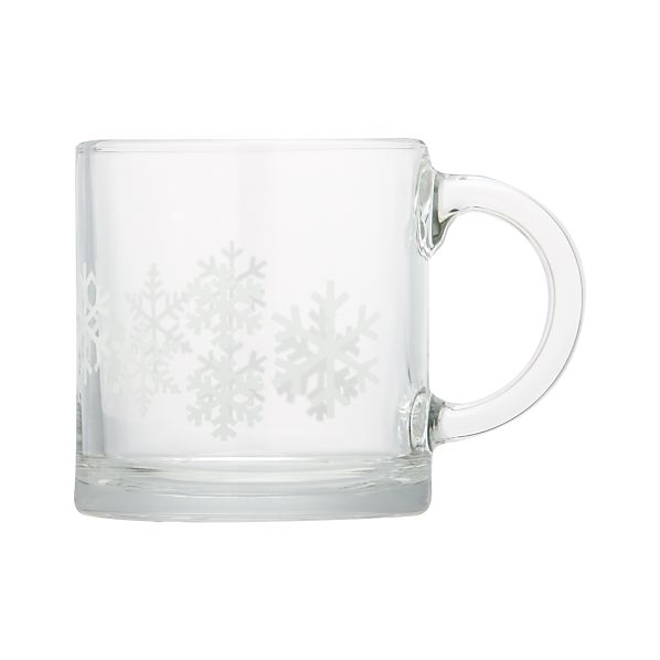 Small Snowflake Glass Mug