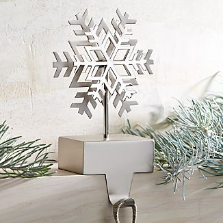 Silver Snowflake Stocking Hook