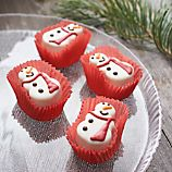 Set of 4 Snowman Petit Fours