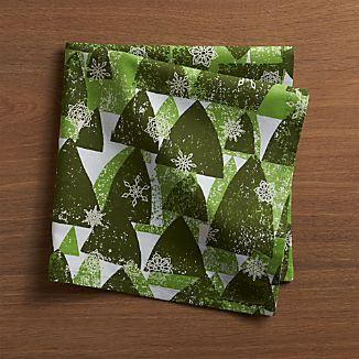 Snowy Forest Napkin