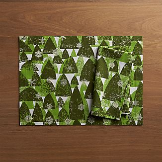 Snowy Forest Placemat and Snowy Forest Napkin