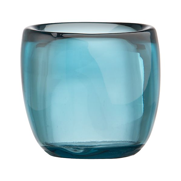 Soiree Harbor Blue Candleholder
