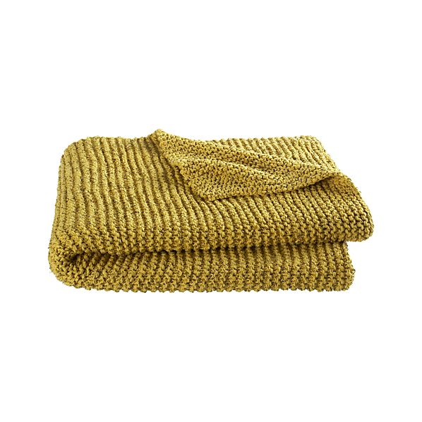 Sol Knit Yellow Throw