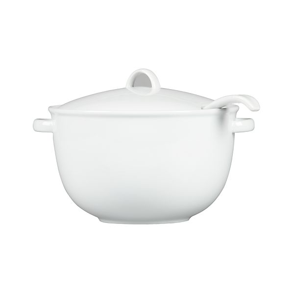 Soup Tureen with Lid and Ladle