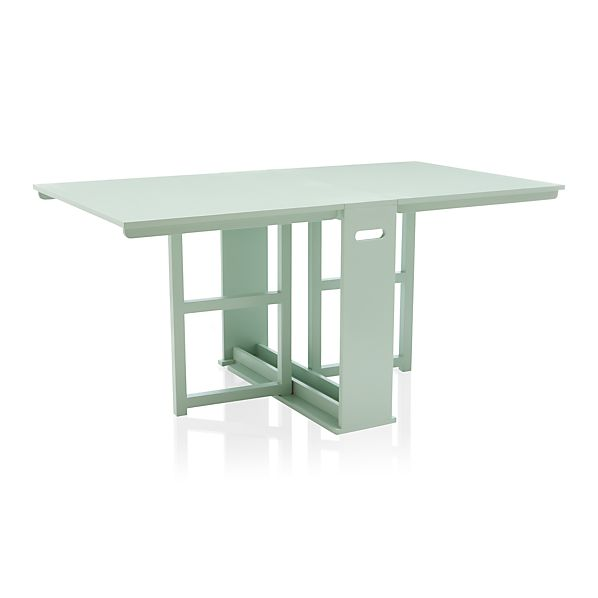 Span Mint Gateleg Dining Table Crate And Barrel