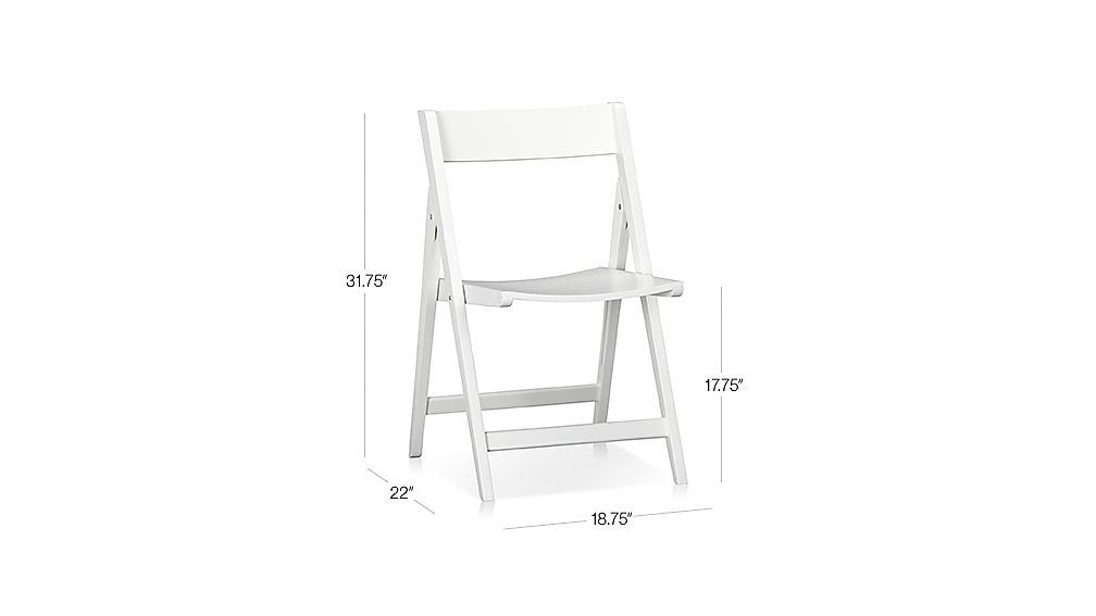Spare White Folding Chair Dimensions