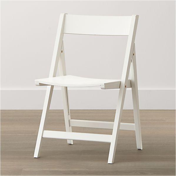 Spare White Folding Chair