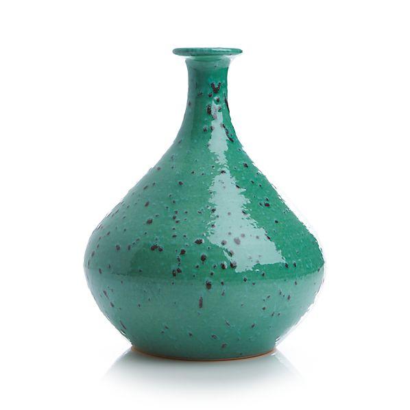 Specks Green Vase