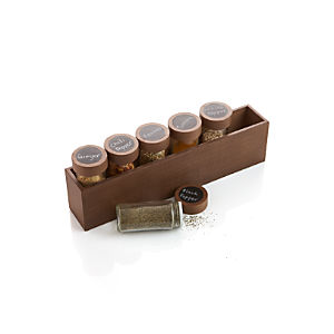 Six Bottle Spice Box