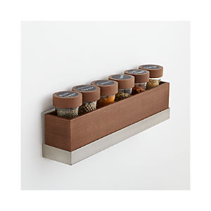 Six Bottle Spice Box with Shelf