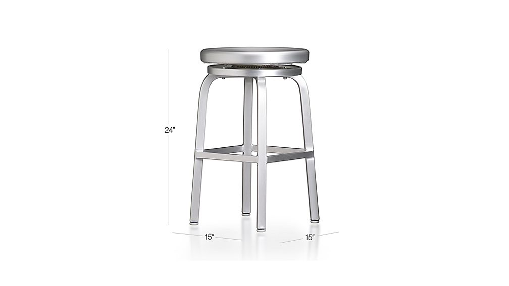 Spin Backless Counter Stool Dimensions
