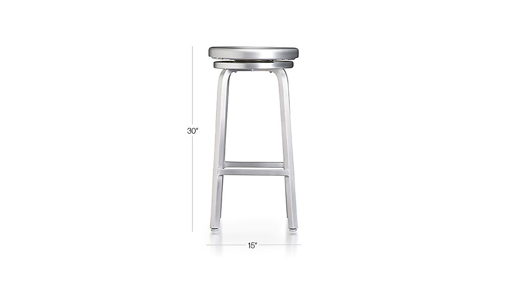 Spin Backless Bar Stool Dimensions