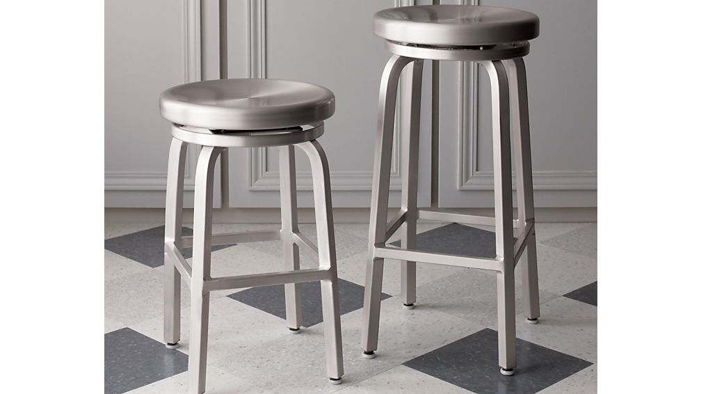 Spin Swivel Backless Counter Stool In Bar Stools Crate