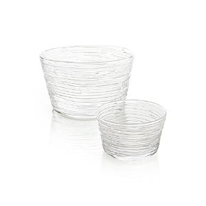 Spin Glass Serving Bowls