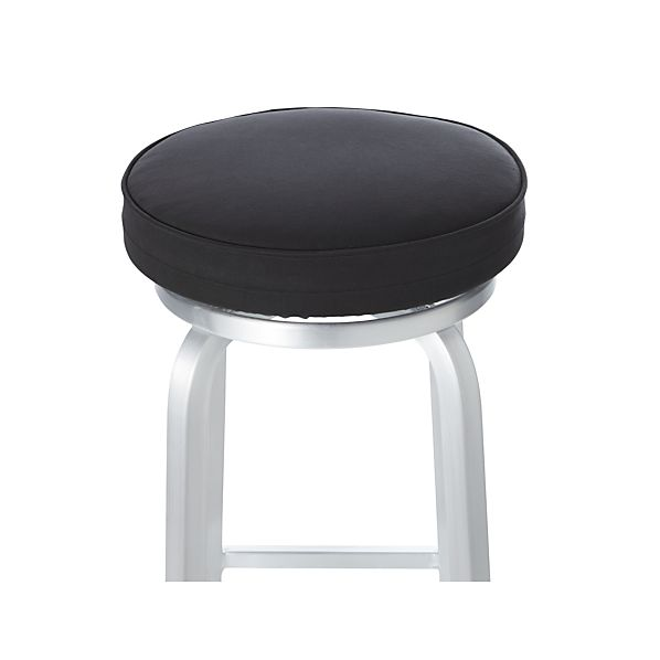 Spin Black Bar Stool Cushion In Chair Cushions Crate And