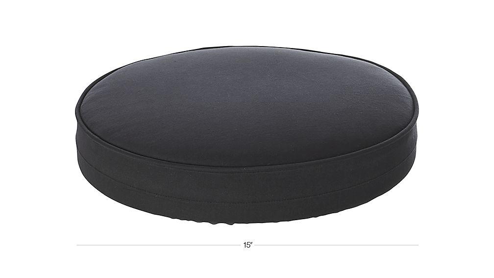Spin Black Bar Stool Cushion Dimensions