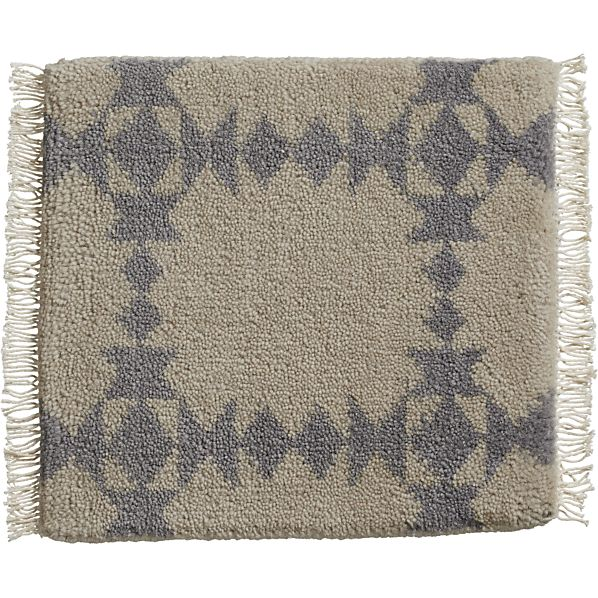 "Spindle Dove 12"" sq. Rug Swatch"