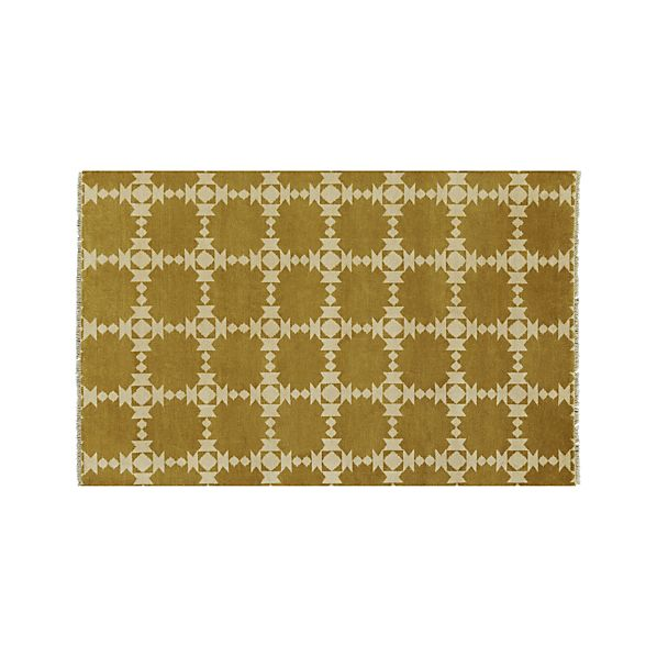 Spindle Gold 5'x8' Rug