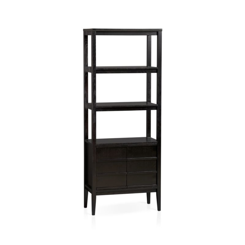 Spotlight Ebony Bookcase In Bookcases