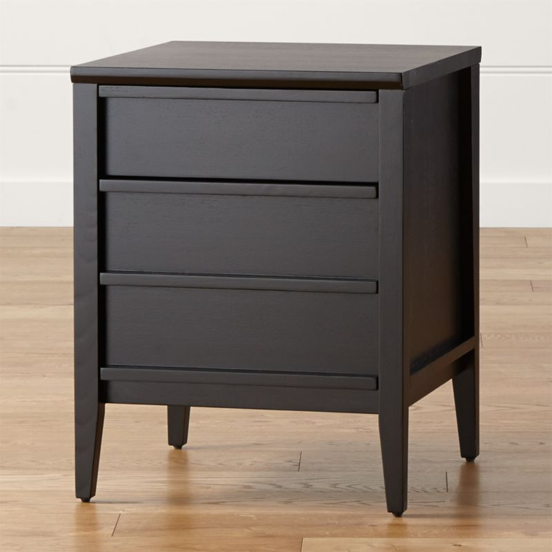 Clean and sleek, Spotlight highlights simple lines and smart storage inside its deep black-stained frame. Concealed cutaway handles streamline the look and open to reveal generous space for files and supplies. <NEWTAG/><ul><li>Designed by Mark Daniel of Slate</li><li>Solid and engineered wood and ash veneer</li><li>Deep black stain with lacquer topcoat</li><li>Two drawers</li><li>Made in Vietnam</li></ul><br />