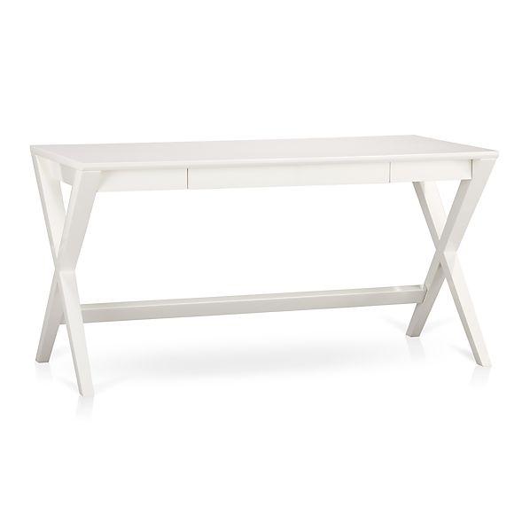 Spotlight White 58 Quot Desk Crate And Barrel