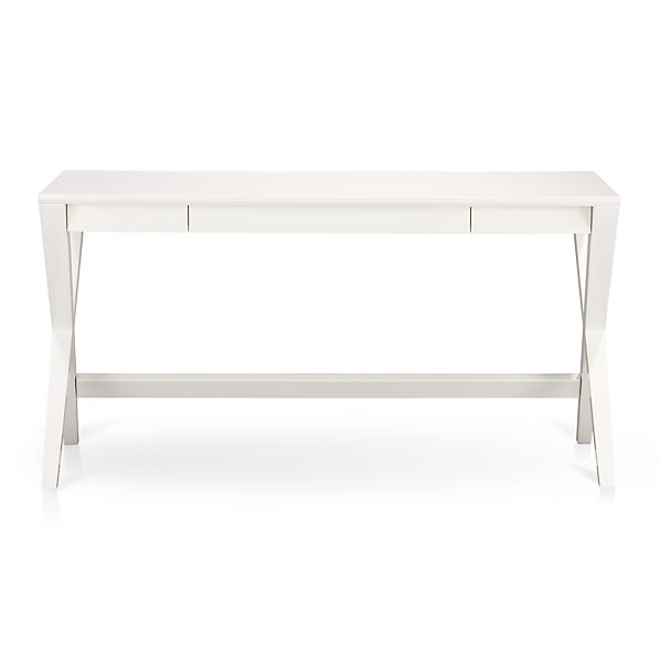 Spotlight White 58 Quot Desk Crate And Barrel