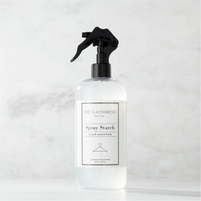 Make trips to the dry cleaner a thing of the past. Formulated exclusively for Clean Slate™, this ultra-gentle, eco-friendly spray starch by The Laundress® is subtly infused with the scent of lavender. Light-to-medium starch formula adds body and refreshes clothing and linens with a crisp finish without the weakening fabrics or leaving the buildup of most commercial starches. It also helps fabrics resist soil and promotes easy ironing. The plant-based formula is 100% biodegradable, non-toxic and allergen-free with no artificial colors or dyes, making it a kind choice for both the environment and sensitive skin.<br /><br /><NEWTAG/>The Laundress® was dreamt up by two graduates from Cornell University's Fiber Science, Textile and Apparel Management and Design program. Frustrated with the financial and environmental cost of dry cleaning, the pair researched and developed eco-conscious formulas designed to properly care for every item in your closet.<br /><ul><li>Formulated exclusively for Clean Slate™ by The Laundress®</li><li>Light-to-medium spray starch won't build up or weaken fabrics</li><li>Cornstarch-based formula is 100% biodegradable, non-toxic and allergen-free with no artificial colors or dyes</li><li>Subtly scented with lavender</li><li>Plastic container is PBA-free</li><li>Made in USA</li></ul>