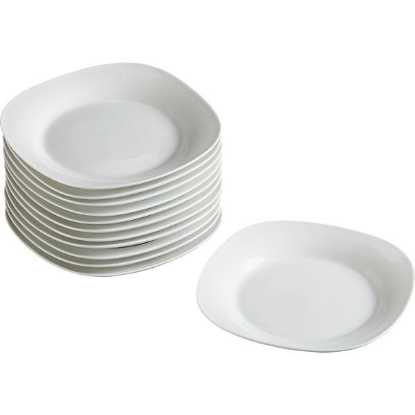صحون تقديم بيضاء اشكال صحون بسيطة اشكال صحون سفرة اطباق مائدة  اطباق بلون