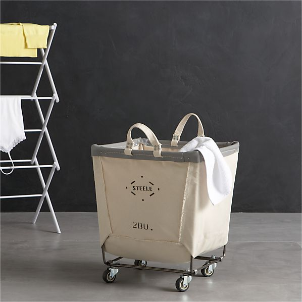 Steele square canvas bin