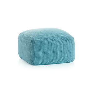 Outdoor Square Mineral Pouf