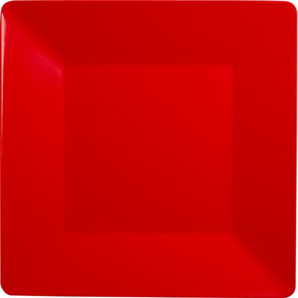 Square Red Dinner Plate