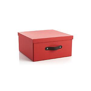 Square Red Storage Box
