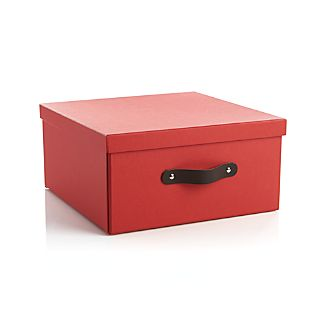 Square Red Storage Box