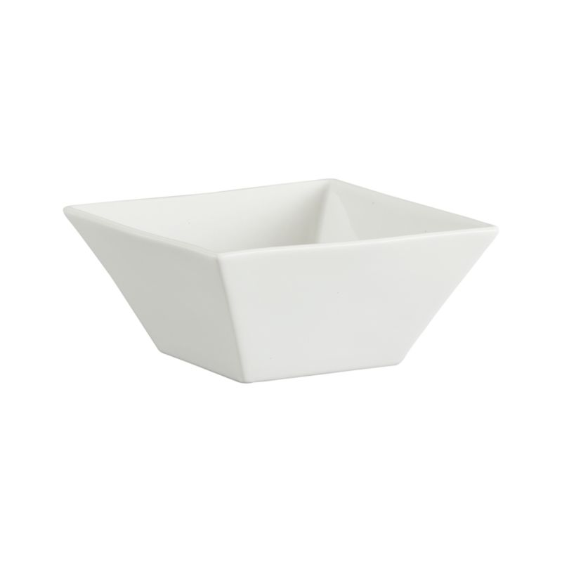 Versatile contemporary styling in chip-resistant white porcelain, sized for soup to cereal.<br /><br /><NEWTAG/><ul><li>Porcelain</li><li>Chip-resistant</li><li>Dishwasher-, microwave- and oven-safe to 350 degrees</li><li>Made in China</li></ul>