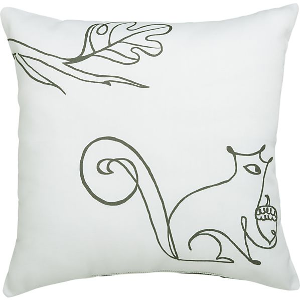 "Squirrel 20"" Outdoor Pillow"