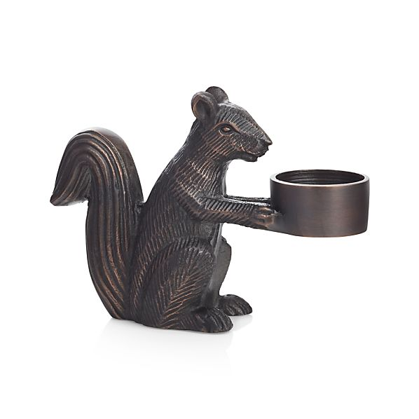 Squirrel Bronze Tealight Candle Holder Crate And Barrel