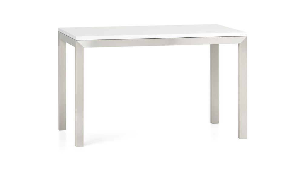 Top Stainless Steel Base 48x28 Parsons High Dining Table In Dining