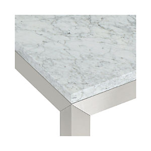 Marble Top/ Stainless Steel Base Parsons Dining Tables