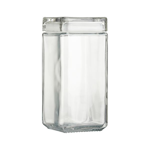 Large Stackable Glass Storage Jar