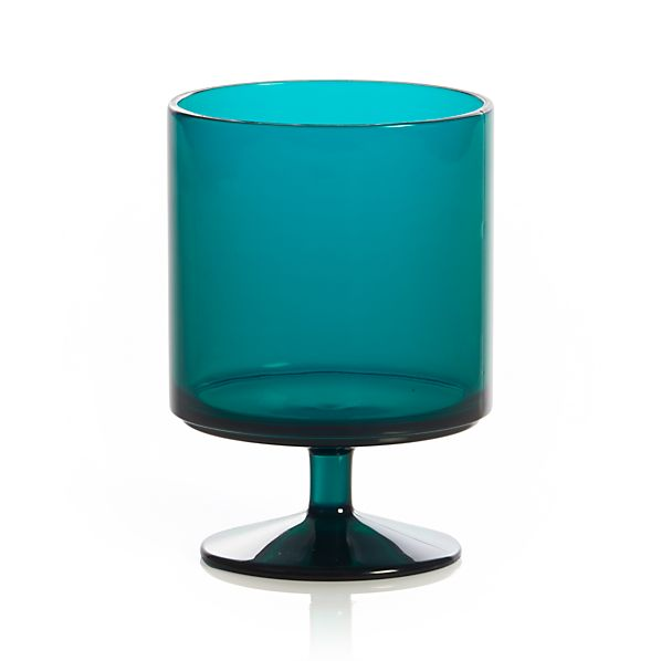 Stacking Acrylic Teal Wine Glass