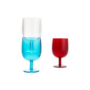 Stacking Acrylic Wine Glasses