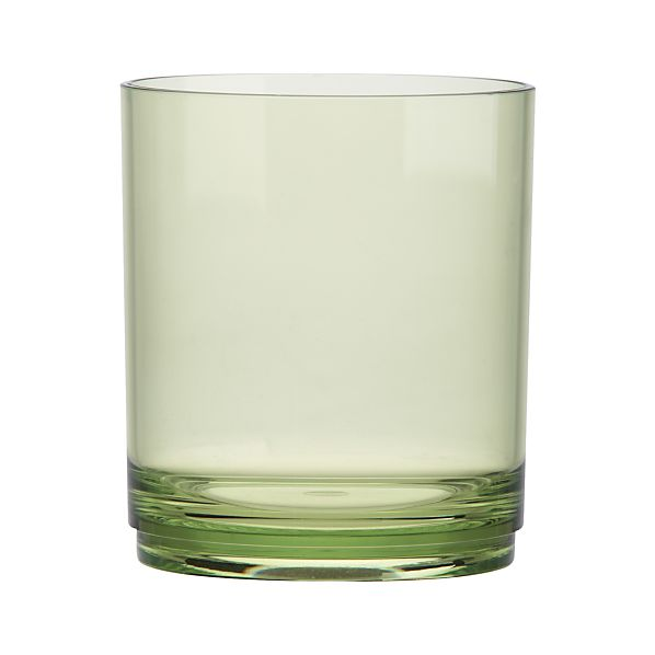 Stacking Acrylic Green Double Old-Fashioned Glass