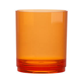 Stacking Acrylic Orange Double Old-Fashioned Glass