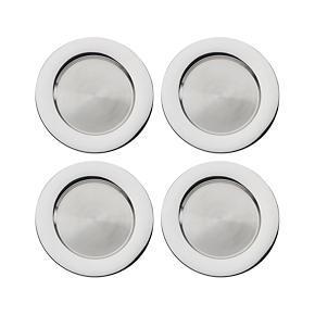 Set of 4 Stainless Steel 13 Chargers